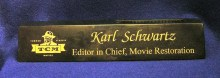 Black Marble Desk Name Plate