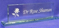 Crystal Jade Desk Name Plate